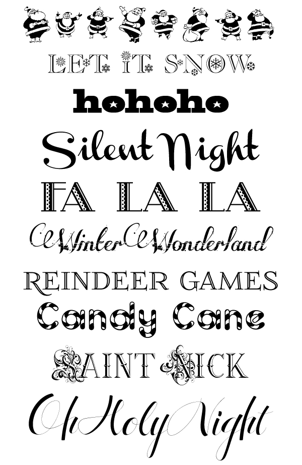 DesignEditor+Christmas+fonts