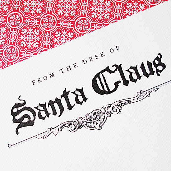 free santa claus stationary template.