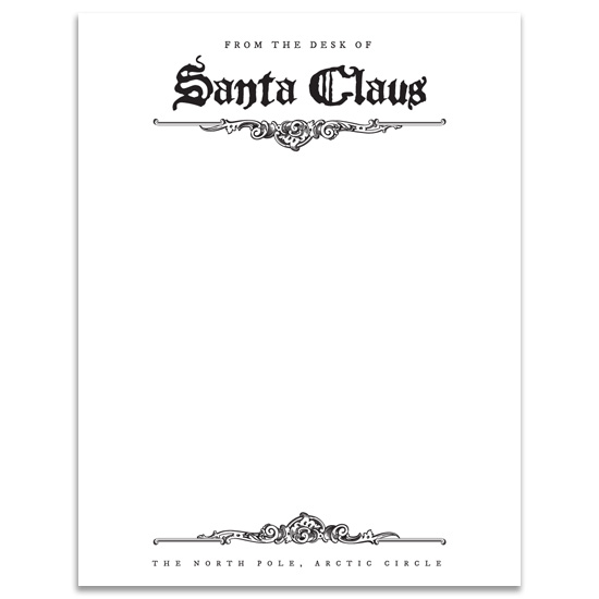 FREE DOWNLOAD – Santa Gift Certificate Template
