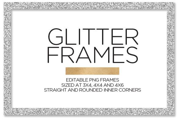 Ungewöhnlich Silver Glitter Picture Frames Galerie - Badspiegel ...